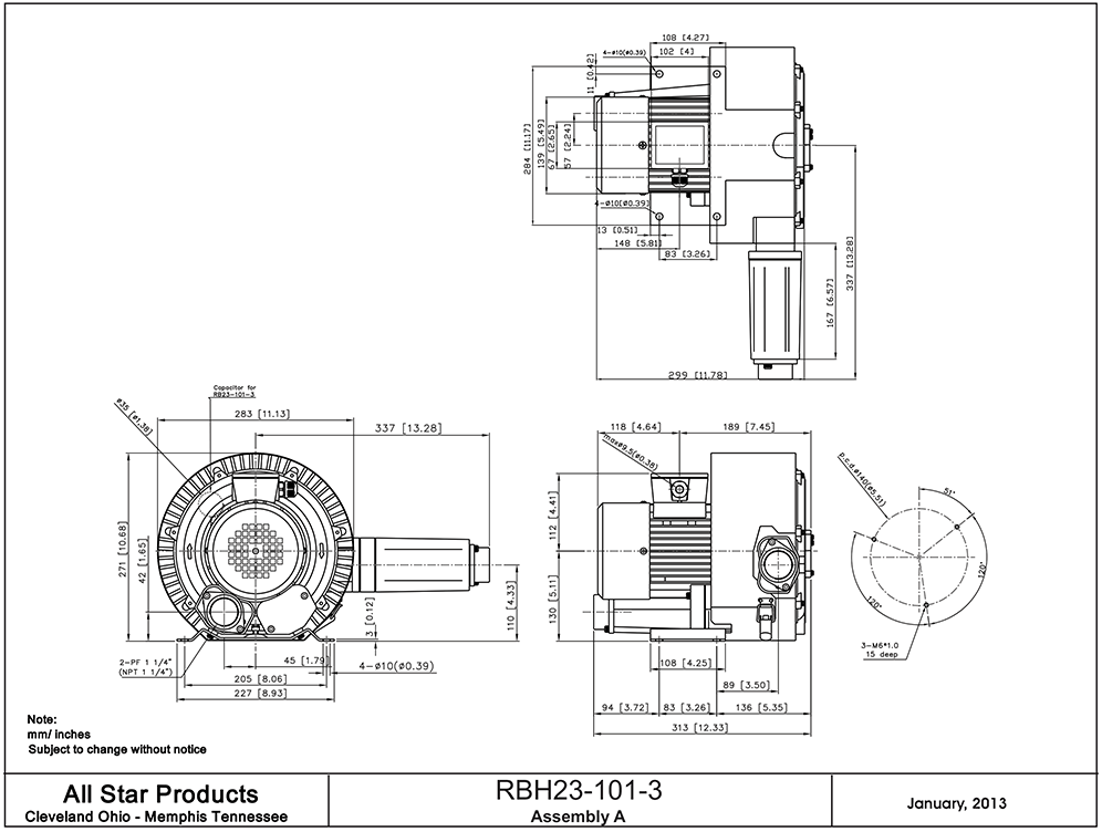 all star products, inc regenerative blower rbh23 series  regenerative blower rb1 series